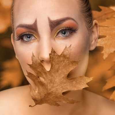 Compositing Julia Seasons Autumn Leaves